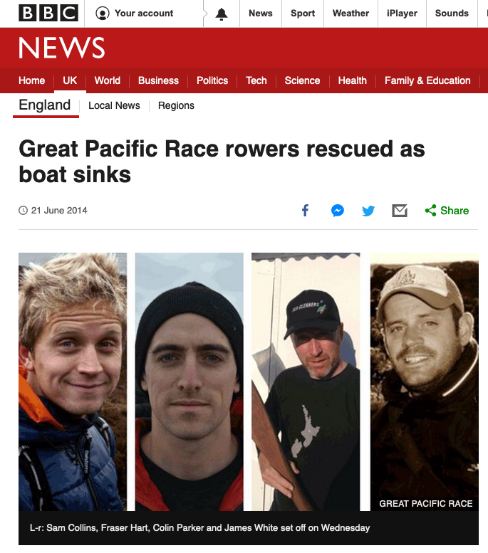 ocean rowing rescue